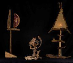 Iluminação troncos troncos Arte objetos Driftwood -2