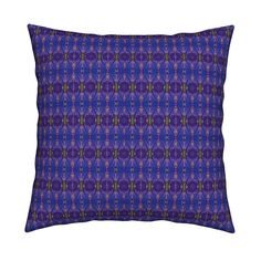 Catalan Throw Pillow featuring KRLGFabricPattern_76B7 by karenspix   Roostery Home Decor
