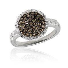 Diamond & Cognac Diamond Ring