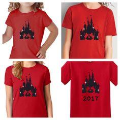 Disney Family Shirts/Disney Family Vacation Shirts/Matching Disney Shirts/Disney Castle/5-pack of shirts