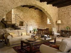 Salon | The sitting room in Casa dell'Arco at Borgo Pianciano in the Umbria Region of Italy near Spoleto.