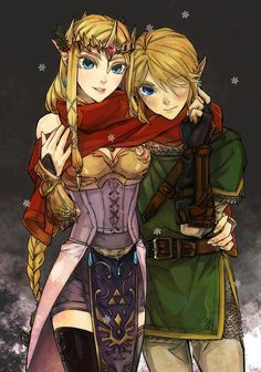Zelda and Link...never played any of the games, but this is just too cute. Couldn't resist pinning.
