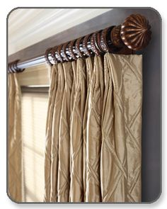 drapery hardware wooden curtain rods