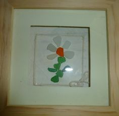 flower made from sea glass