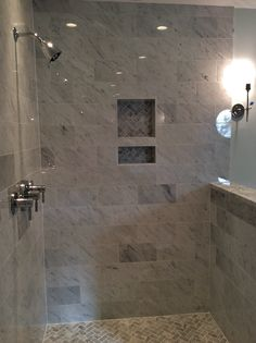 Bathroom Renovations Charleston Sc 16x16 carrara marble at bathroom floor. | tile jobs we've done