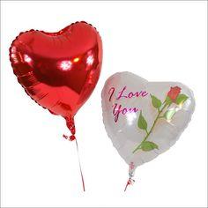 """Ballonbukett - Herzballon weiß - I love you mit roter Rose     Dieser herzliche Liebesgruß bietet wirklich alles, was für ein romantisches Geschenk benötigt wird. Ein weißer Herzballon, eine rote Rose, untermalt mit der Liebesbotschaft """"I love you""""  - dazu ist in diesem Bukett ein roter Herzballon enthalten."""