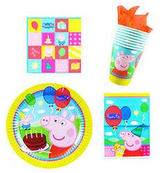 Peppa Pig party packs  8 plates  8 cups  16 napkins  8 loot bags AU$18 now available @24-7 Party Paks kids birthday party supplies ideas pin board http://www.24-7partypaks.com.au/#!product/prd1/2307569951/peppa-pig-party-packs-plates-cups-napkin-loot-8