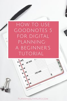 New to digital planning and GoodNotes This is a beginner video tutorial to walk you through some of the basic features of GoodNotes so you can add text, handwriting, and images to your digital planner. Learn how to use the pen tool, text tool, selectio Planner Template, Printable Planner, Planner Stickers, Schedule Templates, Printables, Planner Tips, Budget Planner, Life Planner, Digital Journal