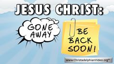 Despite Christ having gone away, the hope and joy of his expected return focus'…