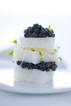 White Polenta with Caviar. #plating #presentation