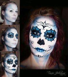 Flower Sugar Skull Makeup Temporary Tattoo TattooFun