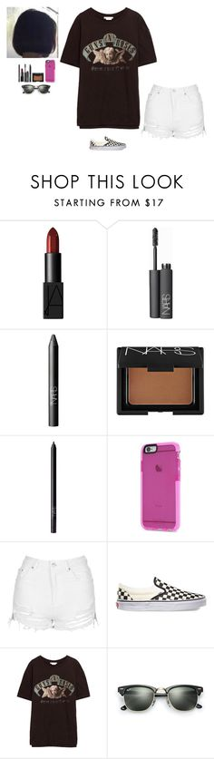"""""""Untitled #213"""" by erin-bittencout on Polyvore featuring moda, NARS Cosmetics, Topshop, Vans e Ray-Ban"""