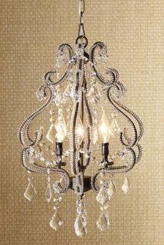 Charming lighting fixture for the master bedroom...  KS.    Valentina Chandelier I from Soft Surroundings- I love chandeliers.  For the bedroom or master spa bathroom.