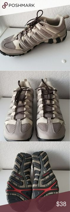 ECCO taupe colored tennis shoes Great condition Ecco taupe colored tennis shoes.  Only worn a few times.  Ecco shoes are the way to go if you have foot problems! Ecco Shoes Athletic Shoes