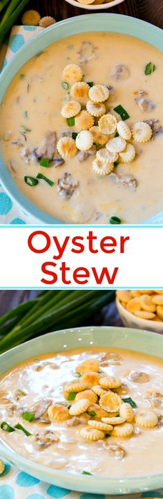 Creamy and thick Oytser Stew #soups #oysters