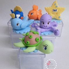 Holiday Cakes, Holiday Decor, Polymer Clay Cat, Clay Cats, Fondant Cupcakes, Baby Shark, Baby Decor, Ariel, Princess Peach