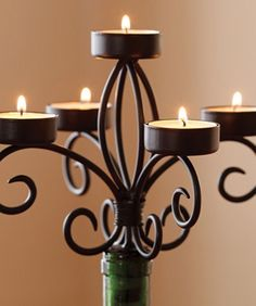Candelabrum Candelabra Candle Holder Topper for Wine Bottle