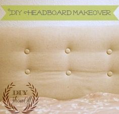 DIYShowOff: DIY tufted upholstered headboard makeover