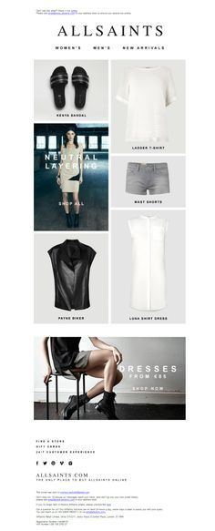 #newsletter AllSaints 05.2014 New Arrivals, Neutral Layering and more...