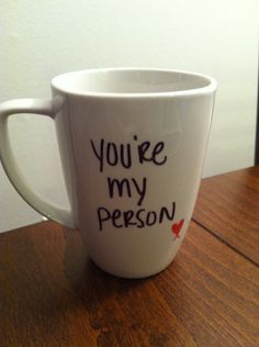 Greys Anatomy mug via Etsy. Love it - Will make a great b-day gift! One Direction Happily, Greys Anatomy Mug, Favorite Tv Shows, My Favorite Things, Youre My Person, Cute Gifts, Xmas Gifts, Just Love, The Best