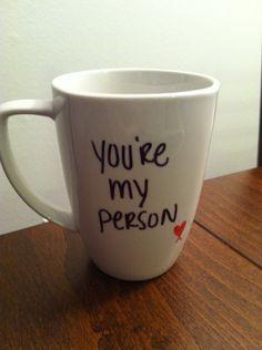 Greys Anatomy mug. $15.00, via Etsy. could make on my own though. love it. OMG