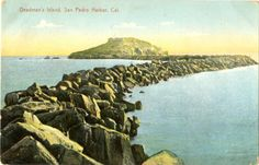 As one of the San Pedro Bay's most conspicuous features, Dead Man's Island became something of a landmark. It was demised in 1928.