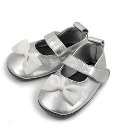 Look what I found on #zulily! Silver Bow Leather Mary Jane Bootie #zulilyfinds