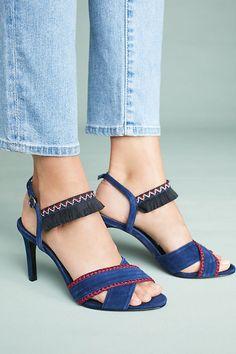 4f7a920a4d56d MARIBELLE - Double Cross Strap Mid Heel Sandal - black
