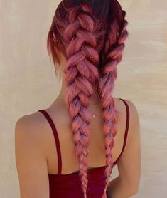 Hair painted with braids
