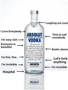 if your laughing out loud with that amount of vodka.. you have serious problems