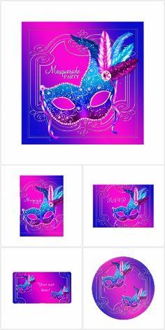 Pink Purple Masquerade Party