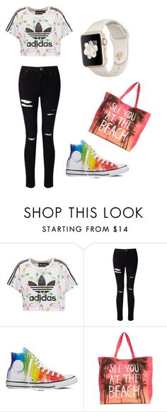 """Day 1"" by katkahrdl-1 on Polyvore featuring adidas Originals, Miss Selfridge and Converse"