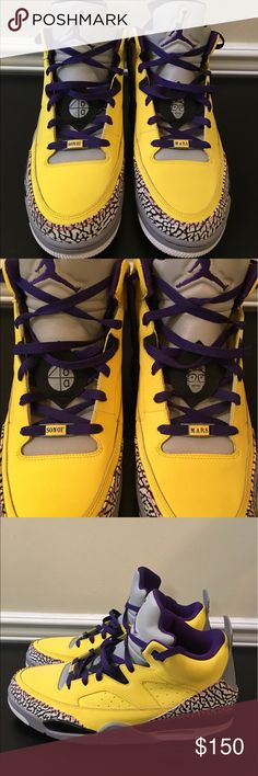 🛍 Nike Air Jordan Yellow Sun of Mars Sneakers 14 Great condition. Air Jordan Shoes Sneakers