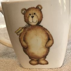 Crown Trent Teddy Bears Coffee Mug Cream Austin Chester Fletcher Bone China #CrownTrent