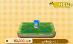 Name: Garbage Can; Cost: 53,000; Unlock Requirements: Neighbor approach conversation.  Requested By: Normal Villagers  Note: You can get rid of unwanted items here wit...
