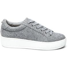 Steve Madden Women's Bertie-F Sneakers (916.835 IDR) ❤ liked on Polyvore featuring shoes, sneakers, grey flannel, steve-madden shoes, platform trainers, steve madden footwear, grey sneakers and platform sneakers