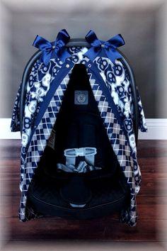 SKULLS FLANNEL Car Seat Canopy Cover By JaydenandOlivia