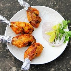Spicy grilled drumsticks, the Indian 'chicken 'tangri' kebab' recipe.