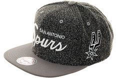 Mitchell & Ness VI17Z San Antonio Spurs Snapback Hat - Graphite, Gray