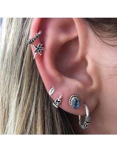 Piercing Pressão Cartilagem Estrela
