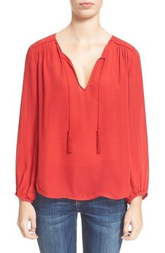 Odelette Blouse in Deep Cerise by Joie