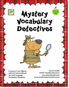 "Mystery Vocabulary Detectives turns vocabulary review into an exciting, fast-paced game! Students have to become detectives as they guess the meanings of vocabulary words based on clues given by an ""eyewitness."" You can customize this game with your own words and use it in almost any content area. Common Core Aligned with grade 4-6 vocabulary standards. $"