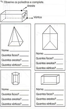ALFABETIZAÇÃO CEFAPRO - PONTES E LACERDA/MT : Sugestões de atividades com Geometria Familia Y Cole, Face E, Grammar Lessons, 3rd Grade Math, Studyblr, Math Games, Kids Education, Middle School, Bar Chart