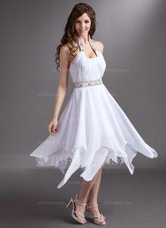 Homecoming Dresses - $129.99 - A-Line/Princess Halter Tea-Length Chiffon Homecoming Dress With Ruffle Beading Sequins (022016277) http://jjshouse.com/A-Line-Princess-Halter-Tea-Length-Chiffon-Homecoming-Dress-With-Ruffle-Beading-Sequins-022016277-g16277