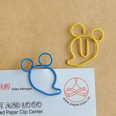 Mikey Mouse shaped paper clips