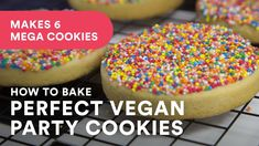 Learn how to make the perfect vegan sugar cookie with this very easy recipe. ★ Grab RECIPE in US metrics/grams here. Vegan Shortbread, Shortbread Cookies, Vegan Sugar Cookie Recipe, Baking Recipes, Cookie Recipes, Vegan Baking, Bakery, Easy Meals, Desserts