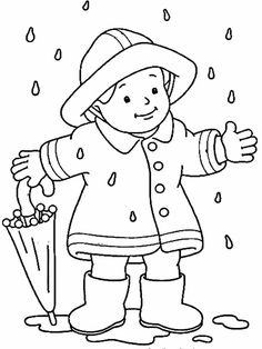Rainy Day Coloring Pages Collection For Kids. Get the complete Rainy Day coloring pages collection here. Fall Coloring Sheets, Fall Coloring Pages, Coloring Pages For Kids, Coloring Books, Kids Coloring, Free Coloring, Winter Crafts For Kids, Free Printable Coloring Pages, Free Printables
