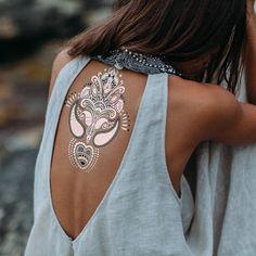Temp tattoo /  backless top
