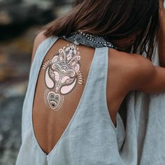 Temp tattoo / backless top