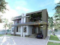 2-ух этажный дом: архитектура, зd визуализация, 2 эт | 6м, жилье, модернизм, 200 - 300 м2, каркас - ж/б, коттедж, особняк, архитектура #architecture #3dvisualization #2fl_6m #housing #modernism #200_300m2 #frame_ironconcrete #cottage #mansion #architecture